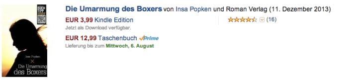Die Umarmung des Boxers - Insa Popken